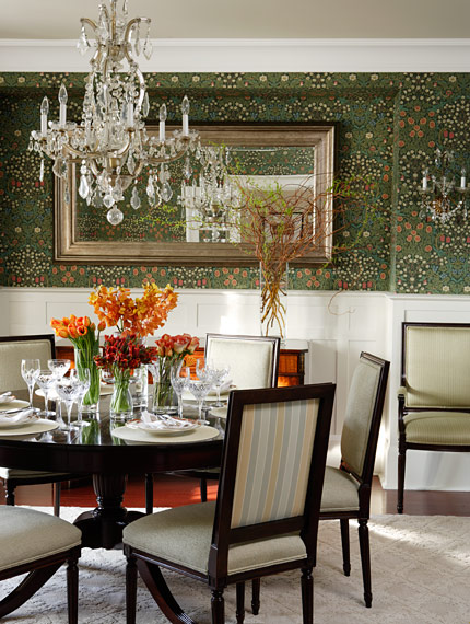 Take A Bite Out Of 24 Modern Dining Rooms: Sarah Richardson, Get Me This Wallpaper!