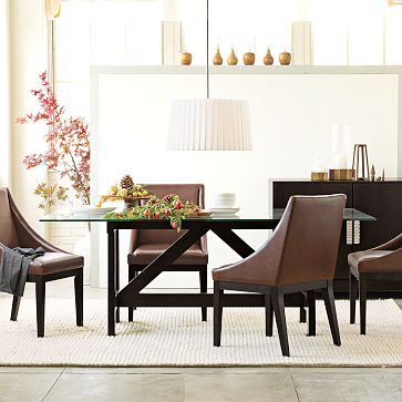 West Elm Trestle Dining Table The Lovely Lifestyle - West elm glass top dining table