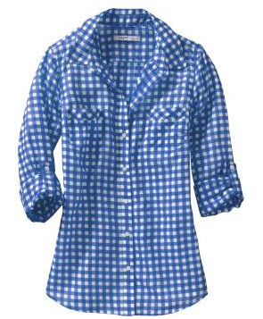 Website wednesday old navy the lovely lifestyle for Navy blue gingham shirt