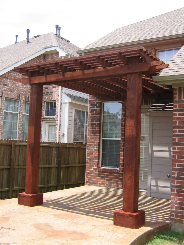 pergola plans attached to house