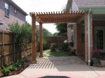 attached cedar pergola via homeandlawntransformers