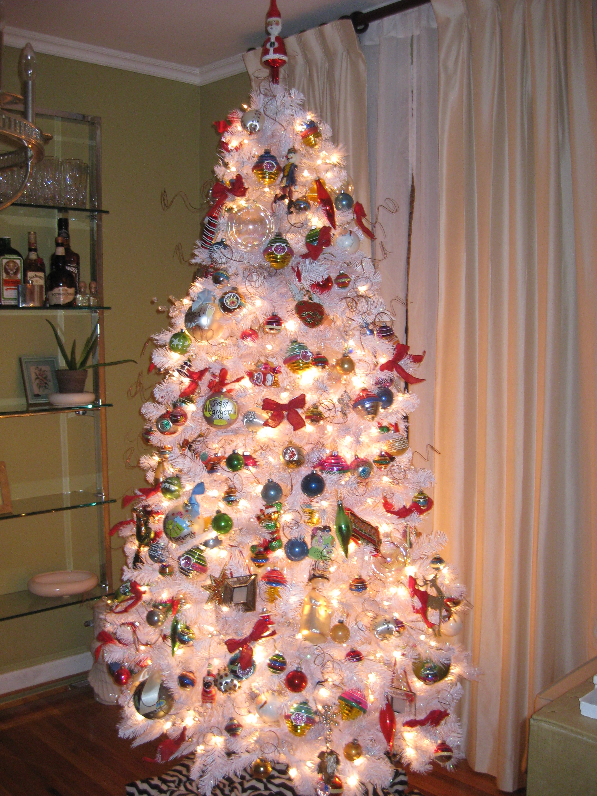 Clear Glass Christmas Tree Decorations