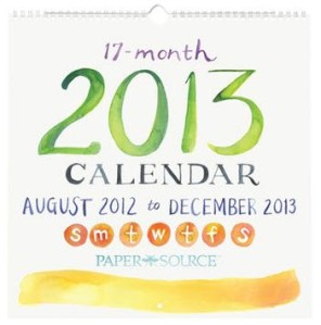 cover 2013 academic watercolor calendar