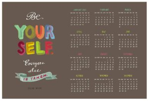 oscar wilde calendar