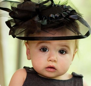 black baby fascinator