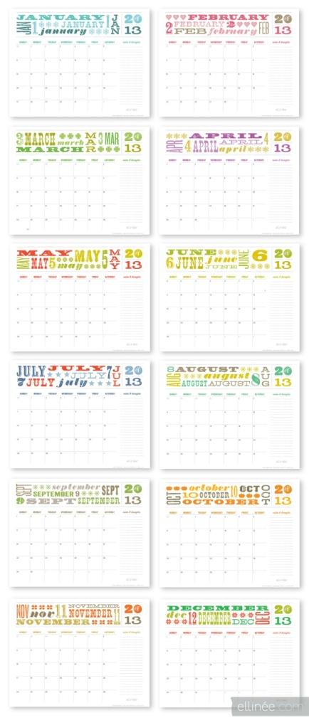 ellinee free 2013 calendar