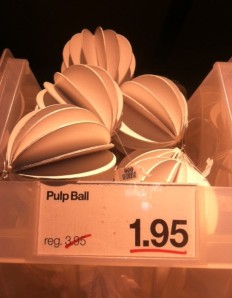 pulp ball ornament at ornament