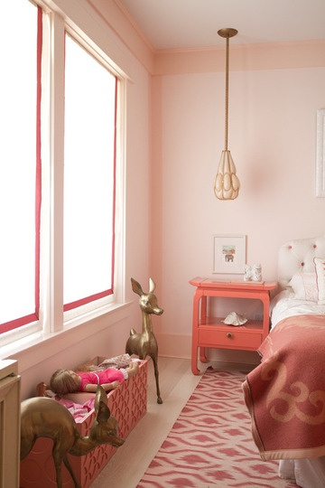 children room with brass deer via apartment therapy