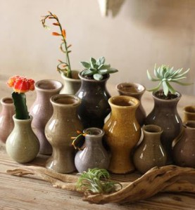 earthtone vases at west end