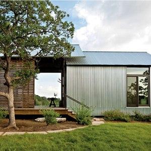 Modular home lake flato modular home for Dogtrot modular homes