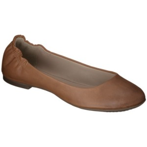 target mossimo brown scruntch flat