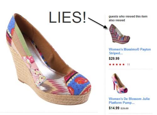 target shoe lies