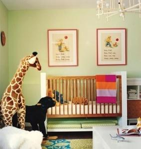large stuffed animals in nursery 1
