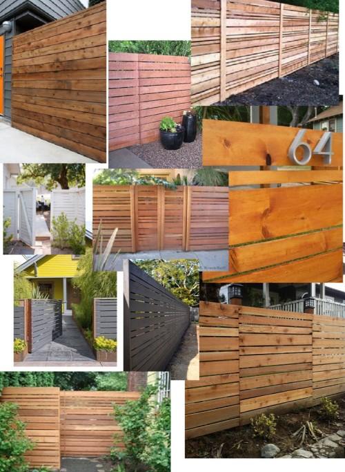 horizontal fence moodboard