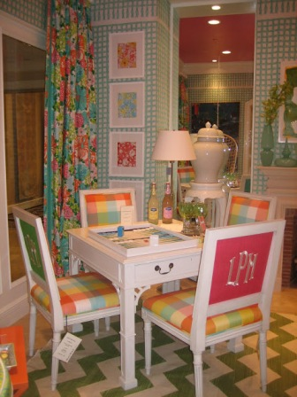 lilly pulitzer lee jofa dining show room