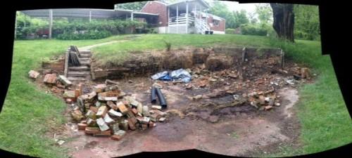 back yard pit