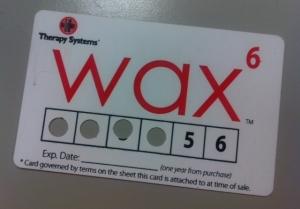 Wax 6 card