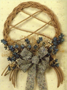 paper twist country wreath