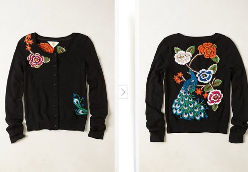 Archival Collection Peacock Cardi