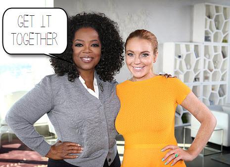 oprah and lindsay lohan