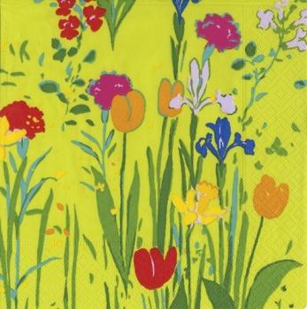 Paule Marrot tulips napkin