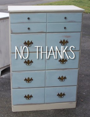 two tone traditional dresser