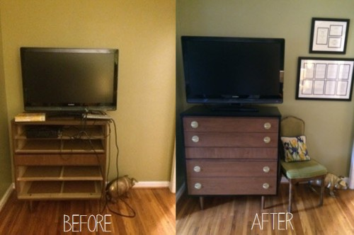 BEFORE AND AFTER - tv dresser