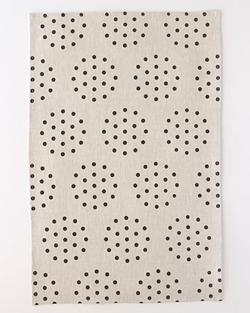 colander - noir tea towel
