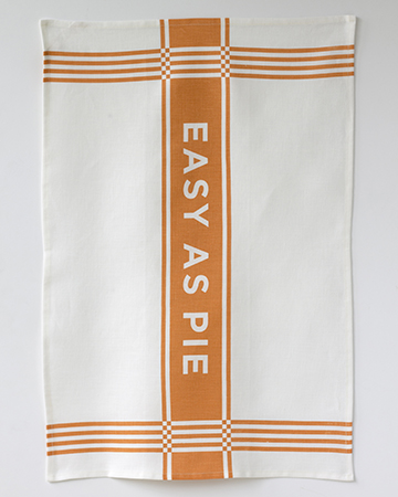 easy as pie tea towel