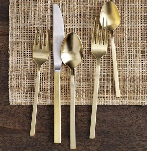 gold flatware from West Elm