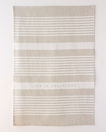 life is delicious tea towel